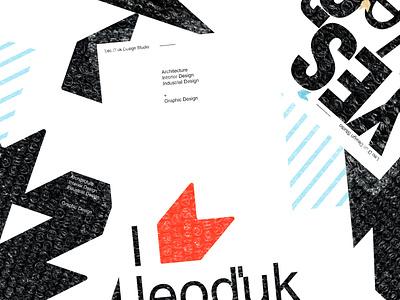 Posters for LeoD`uk Design Studio. Lviv \ 2020 icon vector digital type art illustration poster typography graphic design branding
