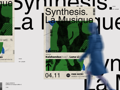 Poster  \  Synthesis. La Musique 2 edition collage art typography graphic  design poster