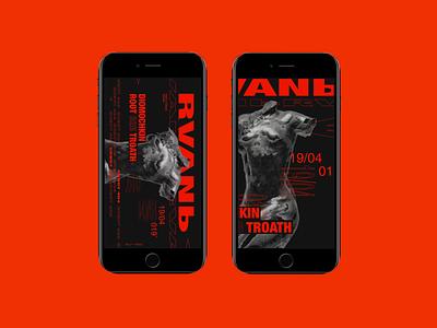 rvan` \ back 2 black series illustration ui ux type art graphic design branding typography poster