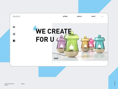 new website for Leod`uk Design Studio illustration ux web icon graphic design design ui branding typography