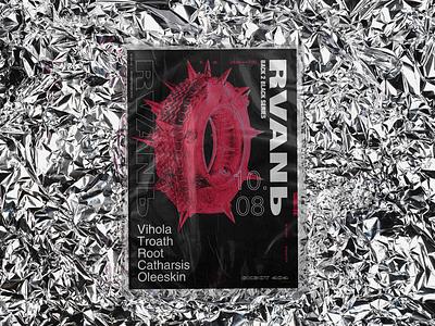 poster for techno rave \ Lviv `019 collage art web type art digital design illustration typography poster graphic design branding