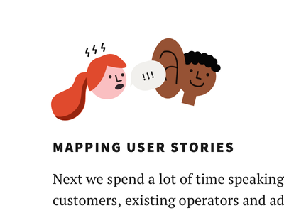 Mapping user stories 🗯👂🏾 cute user stories user design character illustration
