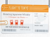 Flight To Tokyo Ticket