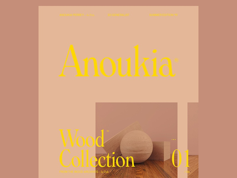 Anoukia—in Pink website typography identity graphic design design clean branding brand