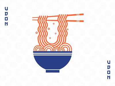 Udon challenge udon flat vector design illustration