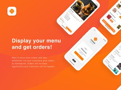 E-menu App design