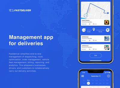 Delivery management App design
