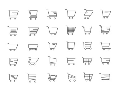 Shopping Cart İcons