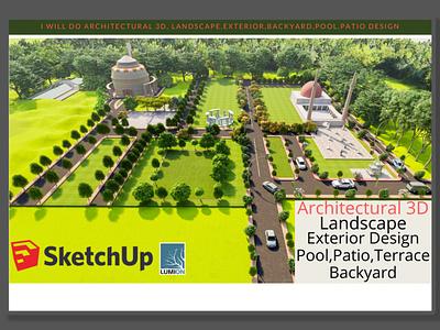 Architectural 3d, landscape,exterior,backyard,pool,patio Design 3ds max gardendesign landscape design lumion vray sketchup architectural3d exteriordesign frontyard backyard patiodesign pooldesign