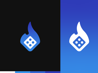 Bits Casino - Logo Design crypto currency crypto dices dice casino games casino online games game bits casino dark black blue gradient gradient logo gradient blue logo design logo design purple