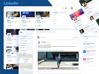 LinkedIn – Re-design Concept