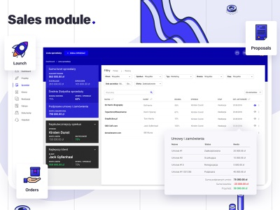 Sales module for interVi – CRM steps filters dashboard design income summary provisions payments money document management system manager manage proposal sales sale ux ui