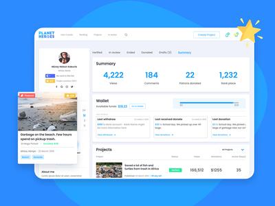 Planet Heroes – Crowdfunding Platform