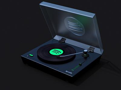 Spotify Player vynil player spotify ui design digital 3d render c4d cinema4d