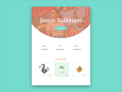 DailyUI   Day 6 User Profile