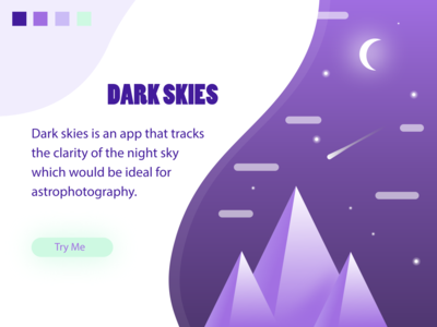 Dark Skies Splash Page