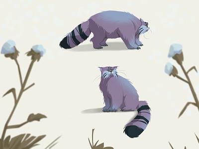 Manul. The cat art cat concept design concept art manul character design digital 2d art illustration