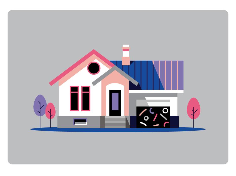American Dream america usa house vector illustration