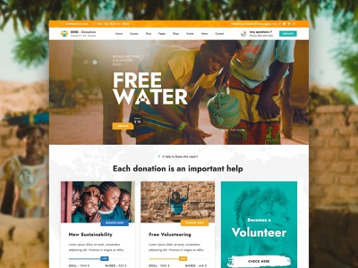 Charity Donation WordPress Theme volunteering support nonprofit non-profit ngo medical research help fundraising foundation environment donations donation crowdfunding covid charity