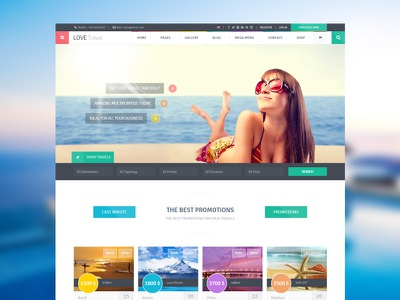 Love Travel travel travel agency trip holiday honeymoon sea summer tour tourism themeforest theme
