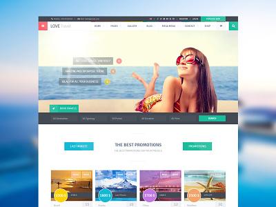 Love Travel travel travel agency trip holiday honeymoon sea summer tour tourism themeforest theme