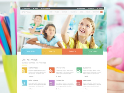 Baby Kids baby children course courses education kids school students themeforest themes