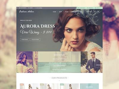 Fashion Atelier themeforest woocommerce atelier bride brides groom grooms bridal shop fashion themes