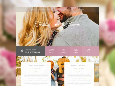 Wedding Couple wordpress themes nicdark themes themeforest wedding day groom bride couple wedding