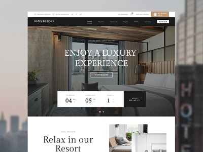 Hotel WordPress Theme travel rooms reservation hotel hostel chalet booking bed and breakfast apartment accommodation themeforest hotel wordpress theme