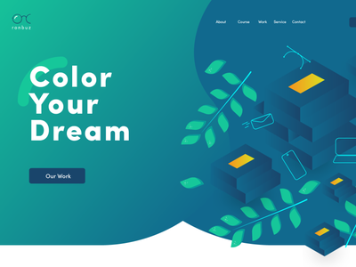 ronbuz website header illustration dream color ux ui design design agency website ronbuz studio ronbuz