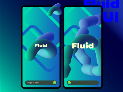 fluid ui vector art 3d vector gradient ui ux digital product design adobe xd