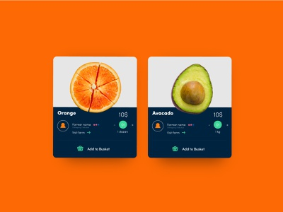 Shopping Card Design concept for Grocery farmer apps farmer fruits food app minimal digital product design ux ui design graphic design shopping cart shopping grocery app
