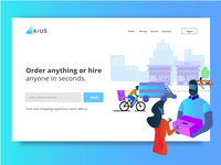 Delivery Apps Landing Page