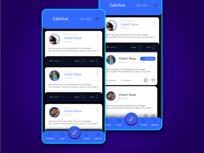 Query and answer UI for Edu apps