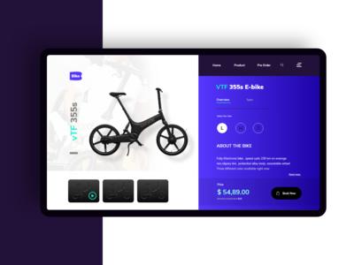 E bike  product page