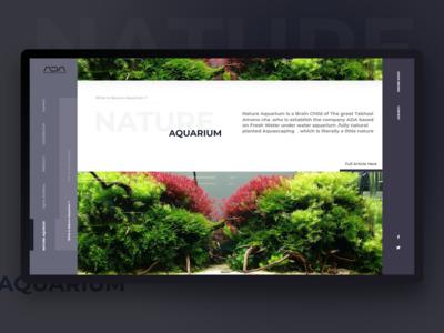 Nature Aquarium Web page