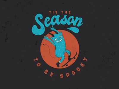 Spooky badge minimal character illustrator flat design vector illustration halloween spooky
