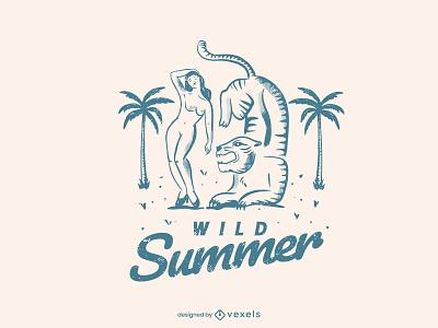 Woman feminine summer woman design vector illustration