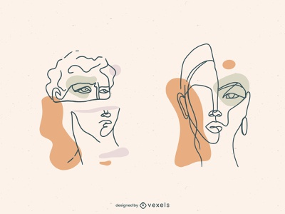 Abstract design vector illustration line lineart abstract