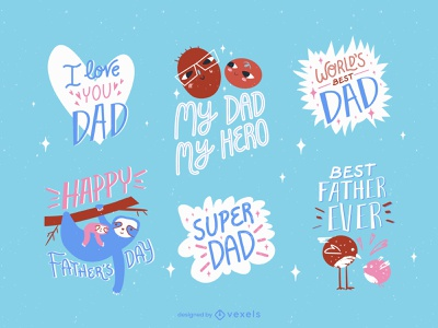 Father day minimal flat illustrator design vector illustration procreate father day father
