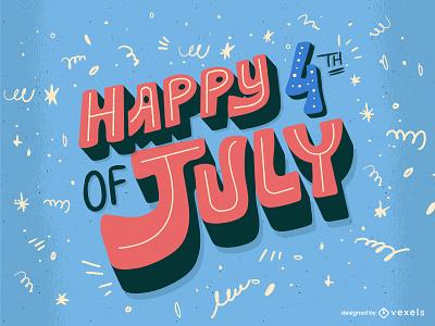 4th of july flat minimal illustrator design vector illustration lettering graphic design happy independence eeuu usa usa celebration independence day 4th of july celebration