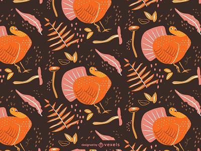 Thanksgiving pattern thanksgiving patterns editable pattern collection animal holidays characters thanksgivingvector turkey pattern seansonals illustrator design vector illustration