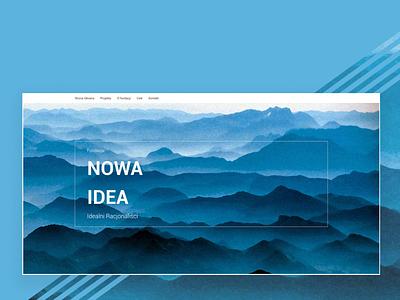 Ideanova new idea ui web design webdesign blue