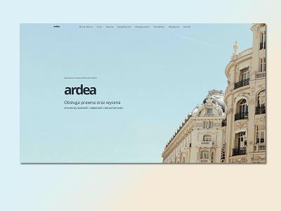 Ardea landing design landing page website