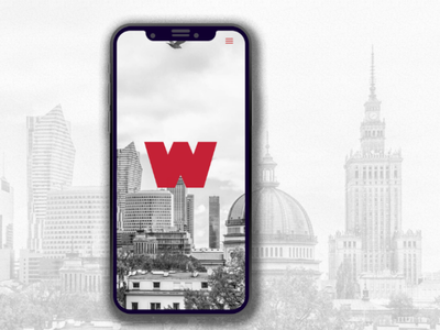 Wolne Miasto Warszawa iphone mobile ui design ui landing page
