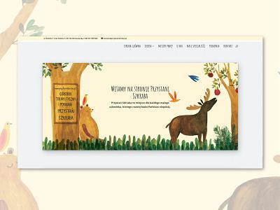 Przystan Szkraba web  design vanilla landing page