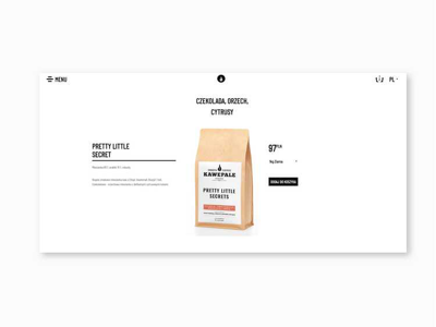 Kawe Pale product page gatsby.js html ui product page website coffee