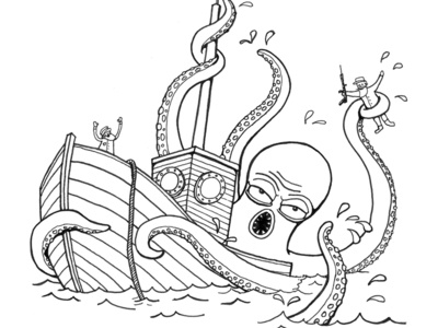 Angry Squid angry squid art illustration