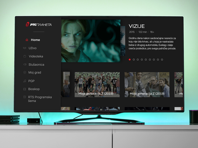 Android TV app layout workinprogress darktheme screenshot content video design ui tvapp smarttv androidtv