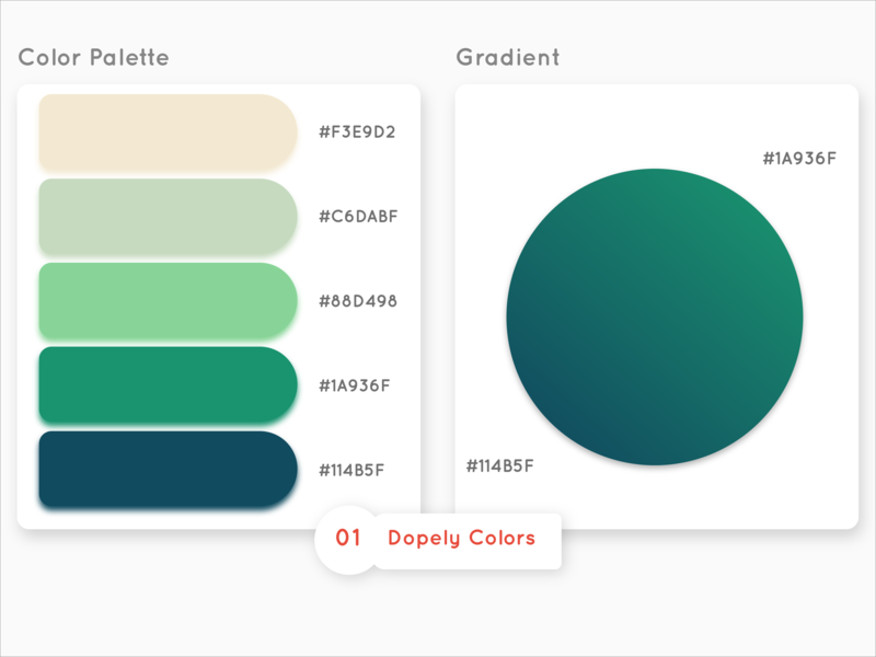 color palette #1 by Omid Malmir on Dribbble